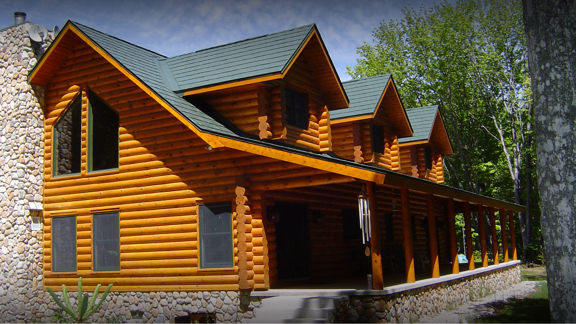Metal Roof on a Cabin